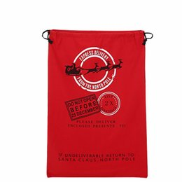 Cloth tie bags online shopping - Christmas Santa Claus Sack Canvas Meery Christmas Gift Holloween Bags with Drawstring Tie Giftwrap Stocking Sack Holders