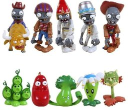 $enCountryForm.capitalKeyWord Canada - 2017 hot 10pcs lot Plants Vs Zombies PVZ Collection PVC Figures Cowboy Toy And Gifts For Children