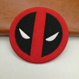 $enCountryForm.capitalKeyWord Canada - 9.2cm Comic Cartoon Clothing Iron On Patch Of Stickers, Dead Pool Face Logo Badge Jacket Patch, Children DIY Cloth Fabric Accessories