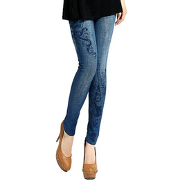 China Wholesale- New 2017 summer Women slim Leggings Stretch Skinny Leggings Jeans Pencil Pants Thin Trousers supplier wholesale patterned leggings suppliers