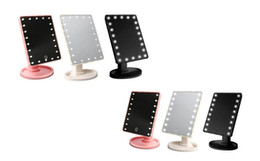 led makeup lights UK - New 360 Degree Rotation Touch Screen Make Up Mirror Cosmetic Folding Portable Compact Pocket With 16 22 LED Lights Makeup Tool