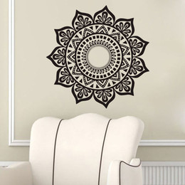 namaste yoga NZ - Mandala Wall Stickers Decoration Removable Vinyl Art Wall Decal Indian Yoga Namaste Home Decor Wall Murals