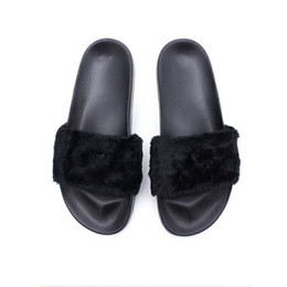 4ccfc5d75 Leadcat Fenty Rihanna Shoes Women Slippers Indoor Sandals Girls Fashion  Scuffs Pink Black White Grey Fur Slides Without Box Good Quality