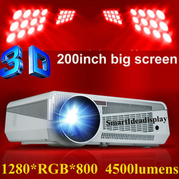 Discount Dlp Tv Lamps Wholesale  4500lumens Full HD LED Daytime Projector  With 220W LED Lamp