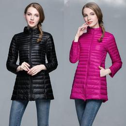 Jacket Down Designer Canada - New thin down coat women winter jacket long paragraph designer coats plus size women clothing Korean fashion warm winter jackets for women