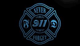 Motion fire online shopping - LS1527 b Never Forget Firefighter Fire Dept Light Sign jpg