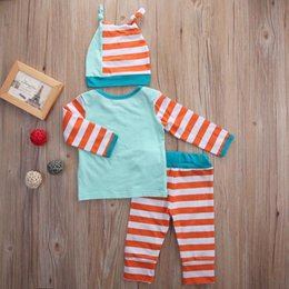 suit baby sets autumn 3pcs NZ - 2016 famous girls suit Newborn Baby Girl Boy fashion long sleeve T-shirt+Pants Leggings+Hat 3Pcs casual Outfits retro kids Set top Clothes