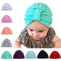 Newborn Black Baby Beanies NZ - Baby Hat Children Baby Caps Cotton Unisex Girls Boys Hats Newborn Photography Props Candy Color Beanies Accessories