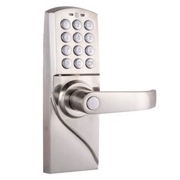 China Digital Electronic Code Keyless Keypad Security Entry Door Lock Right Handle With Emergency Override Keys suppliers