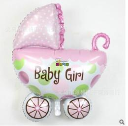 $enCountryForm.capitalKeyWord Canada - hot sale Pink blue balloon baby stroller aluminum film birthday party balloon decoration one hundred birthday party supplies
