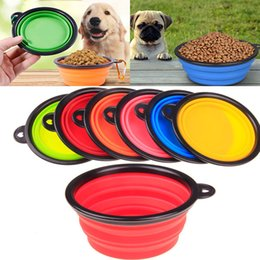 Bowl dishes online shopping - Silicone Folding dog bowl Expandable Cup Dish for Pet feeder Food Water Feeding Portable Travel Bowl portable bowl with Carabiner WX G06