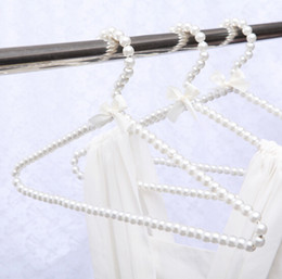 $enCountryForm.capitalKeyWord Australia - 6 Colors 40cm Adult Hangers with Pearls Clothes Hangers Pearl Trouser Hanger Clip for Clothing Shop and Home 10pcs lot