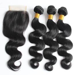 $enCountryForm.capitalKeyWord NZ - whoelsale price Human hair bundle lace closure weaves closure blonde lace closure with bundles brazilian virgin hair sew in hair extensions