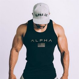 Wholesale 2017 Men Summer gyms Fitness bodybuilding Hooded Tank Top fashion mens Crossfit clothing Loose breathable sleeveless shirts Vest