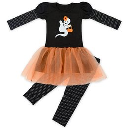 Girls Ghost Costume NZ - Halloween costumes Cute ghost Kids clothing sets Outfits for Girls Tulle  sc 1 st  DHgate.com & Girls Ghost Costume NZ | Buy New Girls Ghost Costume Online from ...