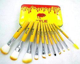 Kylie jenner box set online shopping - 12 Kit Kylie Jenner Holiday Edition Brushes Make Up Set Box Professional Beauty Makeup Tools