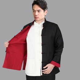 $enCountryForm.capitalKeyWord Canada - Wholesale- Black Red Vintage Chinese Two-Face Coat Men Cotton Linen Reversible Kung Fu Jacket Size S M L XL XXL XXXL hombre chaqueta Mim2