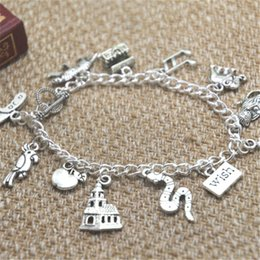 SciSSor bracelet charm online shopping - 12pcs Aladdin inspired bracelet Tiger Scissors Treasure chest Music note Elephant Monkey Magic lamp charm bracelet