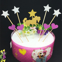 $enCountryForm.capitalKeyWord Canada - cake toppers paper glitter hobbyhorse star banner for Cupcake Wrapper Baking Cup birthday tea party wedding decoration baby shower