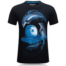 Dolphins Shirts Canada - Dolphin Cotton hip hop designer t shirts for men Short Sleeve Sports 3d shirt men Leopard camouflage brand t-shirts mens designer clothing