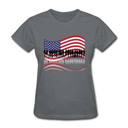 $enCountryForm.capitalKeyWord UK - America flag printed ladies short sleeve tshirts fashionable reflection design stripe style girl's pure cotton tee shirts