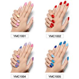 Ingrosso Adesivi decorazioni unghie solido per unghie da 22 colori 1 set Adesivi unghie 16 pezzi Adesivi unghie cool per unghie Adesivo non tossico bellezza per le donne incinte