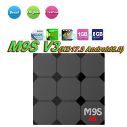 M8s Android Tv Boxes Australia - M9S V3 android 6.0 tv box RK3229 4K HDR H.265 HEVC 3D play Private model 1GB 8GB WIFI Internet TV Box better M8S