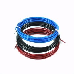 Wholesale Spare Rope m Crossfit Replaceable Wire Cable Speed Jump Ropes Skipping Rope Color Red Blue and Black steel wire