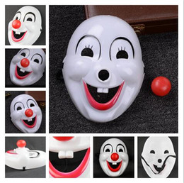 mask dress up NZ - 2018 hot sales Children's Day Masquerade clown red nose movie clown mask plastic clown mask An amusement park dressed up