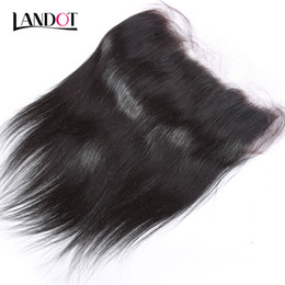 Brazilian hair lace frontal middle part online shopping - Ear to Ear x6 Brazilian Lace Frontals Closures A Virgin Human Hair Closure Straight Malaysian Indian Cambodian Peruvian Mongolian Hair
