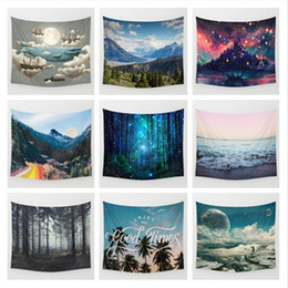 10 designs 130cm150cm landscape beach towel bohemian style shawl polyester fibre cappa rectangle wall tapestry soft mat towel cca6373 50pcs design beach