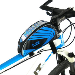 $enCountryForm.capitalKeyWord NZ - Water Resistant Reflective Bike Front Bag Cycling MTB Bicycle Road Bike Frame 5.5'' Phone Bag Bicycle Accessories Free Shipping