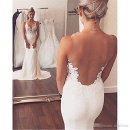 $enCountryForm.capitalKeyWord Canada - 2017 Glamorous Lace Mermaid Wedding Dresses Sleeveless Sheer Open Back Lace Wedding Bridal Gowns Plus Size Beach Bride Party Gowns Cheap