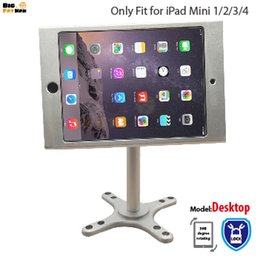 Stand Holder Support For Tablets Canada - Fit for iPad mini1 234 wall mount metal case stand display retail bracket store tablet pc lock holder support Adjust the angle