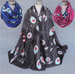 cotton viscose scarves Australia - New Meterial High Quality Viscose Scarf Peacock Feather Print Women's Infinity Scarf Large Size Scarves Fish bone pattern Scarfs