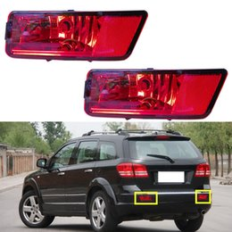 Refitted vehicle online shopping - 2pcs Car vehicle Refit Red Lens Rear Bumper Lamp Lighting DIY case For Dodge Journey