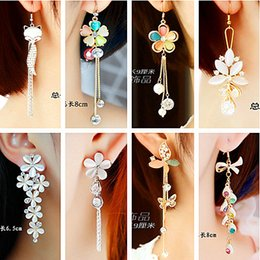 $enCountryForm.capitalKeyWord Canada - girl jewelry Cute little fox Opal Earrings sweet daisies long earrings Korean female ear jewelry exaggerated temperament