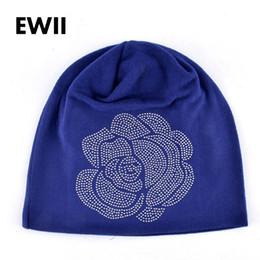 $enCountryForm.capitalKeyWord NZ - Wholesale- Spring and Autumn ladies beanie knitted hat women flower rhinestones hats for women's skullies caps girl cap gorros balaclava