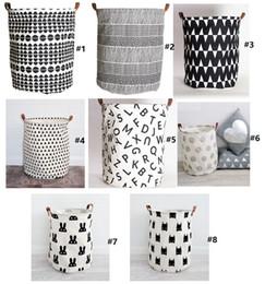 Bat Clothing Canada - INS storage Baskets Bins Kids Room Toys Storage Bags Bucket Clothing Organizer Laundry Bag Canvas Organizer Bat Polka Dot Laundry wn056