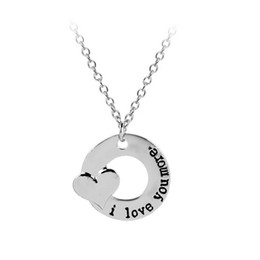 Chinese  I Love You More Heart Necklace Circle Pendant Necklaces Lover Jewelry for Women Men valentine Gift DROP SHIP 161760 manufacturers