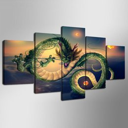 $enCountryForm.capitalKeyWord UK - Abstract Green Dragon In The Sky Canvas Painting Modular HD Printed Animal Pictures for Home or Sofa Background Decoration Unframed