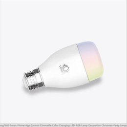 Discount color energy saving bulb - Wholesale-Led bulb light energy saving lamp e27 ZigBee mobile phone remote control with the music color change light bul