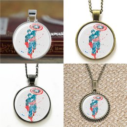 Superhero ShieldS online shopping - 10pcs Superhero Captain Art star shield Necklace keyring bookmark cufflink earring bracelet
