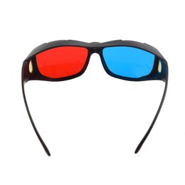 China Wholesale- Brand New Plastic Framed Dimensional Anaglyph 3D Vision Glasses Plasma TV Movie cheap active vision suppliers