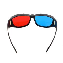 Tv Frame Plastic UK - Wholesale- Brand New Plastic Framed Dimensional Anaglyph 3D Vision Glasses Plasma TV Movie