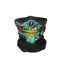 Ski maSk purple online shopping - 8 Colors Skull Face Mask Halloween Skull Face Masks Outdoor Sports Warm Ski Caps Cycling Motorcycle Face Mask magic Scarf