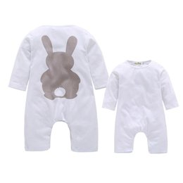 Barato Longos Macacões De Macacão-Newborn Baby Boy Rompers Outono Inverno Coelho Long Sleeve Boy Clothes Jumpsuits Baby Girl Romper Toddler Overalls Vestuário 2108056