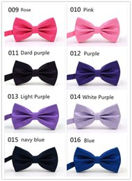 Wholesale Prezzo di fabbrica wholsale OEM 32 Clors Men Classic Wedding Bowtie Cravatta Novità Tuxedo Fashion Regolabile fidanzato / regalo fater