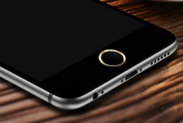 iphone home button sticker metal NZ - Aluminum Metal Ring Touch ID Home Key Button Sticker Protector for iPhone 7 6S 6, 7 6S 6 Plus,SE 5S with Fingerprint Identification Function