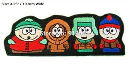 EmbroidEriEd patchEs online shopping - 4 quot SOUTH PARK FUNNY CARTOON Iron On Patch Badge TV Movie Characters Series Embroideried Iron On Patch Logo Badge for clothing